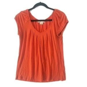 MICHAEL Michael Kors M Orange V-Neck T-Shirt Top